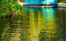 Tour Boat Sidewalk Reflection ...