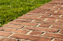 Brick Walkway On Angle