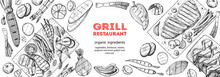 Grilled Meat And Vegetables To...