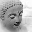 Visage tête Bouddha lotus yoga