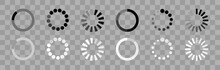 Loading Icon. Loader Concept. Waiting Button Circle Vector Icon. Indicator For The Loading Process.