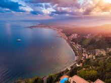 Taormina, Sicily Italy Sunset ...