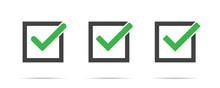 Green Check Mark Vector Isolat...