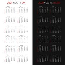 2021 And 2022 Calendar Page Di...