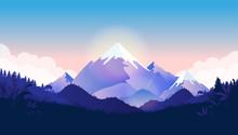 Mountain Peak Vector Illustrat...