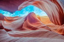 Slot Canyon Antelope Near Page, Arizona, America - Abstract Sandstone Wall Concept