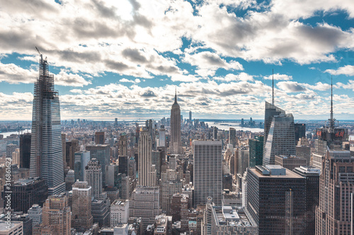 Canvas Print New York, United States »; January 5, 2020: Top of the Rock in New York, beautif