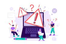 404 Error Web Page Vector Illustration