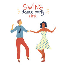 Swing Dance Party Time Concept...