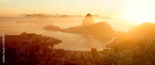 Aerial panorama of Rio de Janeiro city, Brazil Wallpaper Mural