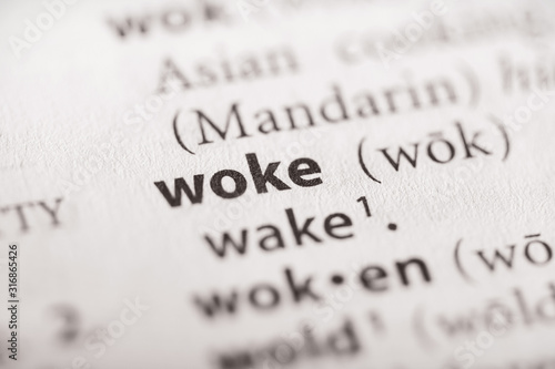 Obraz Dictionary Series - Woke - fototapety do salonu