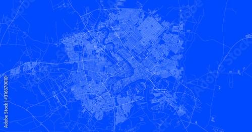 Blueprint of Bagdad city, One Color Map, color change, Artprint Fototapet