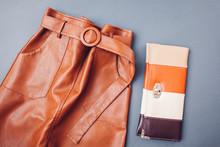 Trendy Leather Skirt. Spring F...