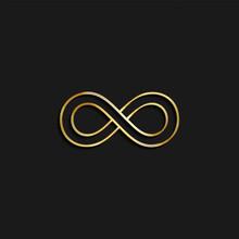 Infinite, Infinity Gold Icon. ...