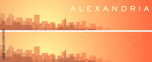 Alexandria Beautiful Skyline Scenery Banner Wallpaper Mural