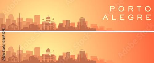Porto Alegre Beautiful Skyline Scenery Banner Canvas Print