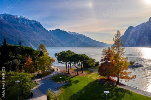 Panoramic view of the beautiful Lake Garda Canvas Print