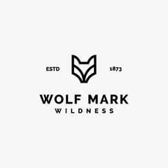 simple wolf mark logo inspiration