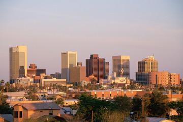 Phoenix, AZ at sunset