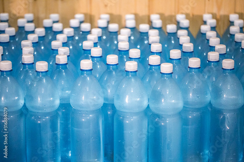 Photo Production of mineral water on a small family business