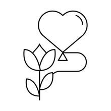 Happy Valentines Day Heart Bal...