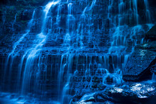 Abstract Blue Background Water...