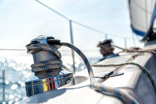 Fotografia Winsch auf einer Segelyacht