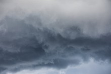 Amazing Shot Of The Storm Clouds Before The Heavy Rain -great For Background Or Wallpaper