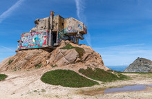CALIFORNIA - MARCH 21, 2019: Devil's Slide Bunker In California. Sightseeing Place
