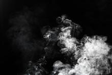 White Steam Vapor Or Smoke Cloud