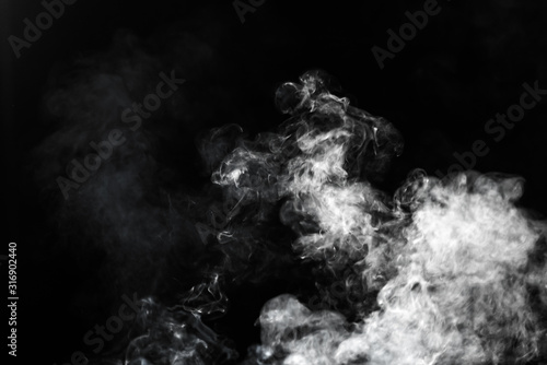 Photo White steam vapor or smoke cloud