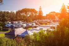 Caravan Park At Sunset In Sout...