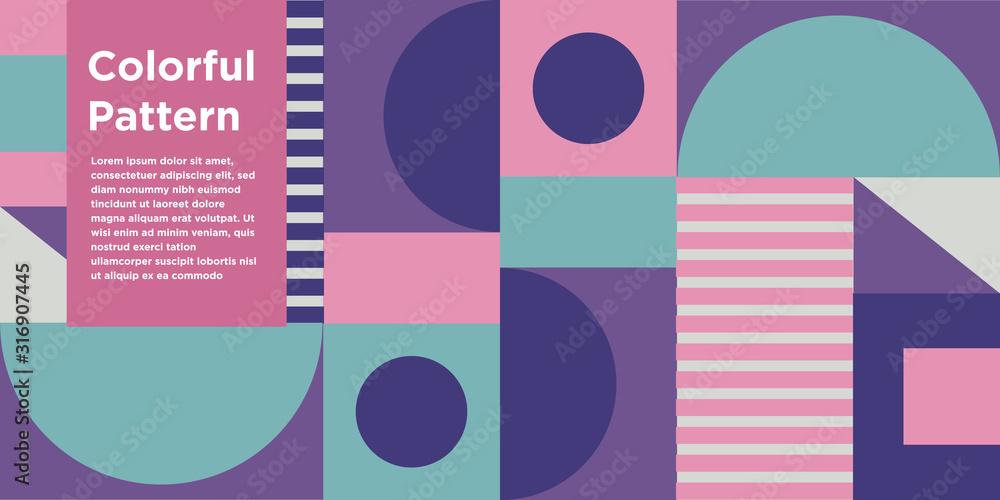 Colorful Geometric Background Design <span>plik: #316907445 | autor: Bitterheart</span>