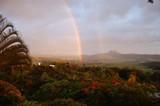 Fototapeta Tęcza - Landscape with rainbow