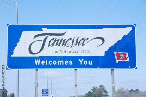 Fotomural Welcome to Tennessee Sign