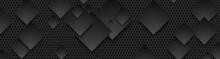 Black Squares On Dark Perforat...