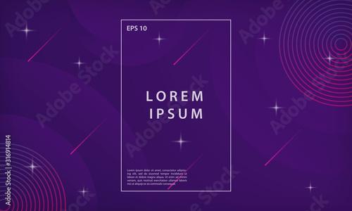 Fototapeta Abstract colorful gradient geometric shapes background. Modern vector design template. obraz na płótnie