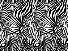 Vector Animal Zebra Print. Sea...