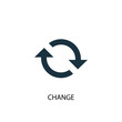 Leinwanddruck Bild - change icon. Simple element illustration. change concept symbol design. Can be used for web and mobile.