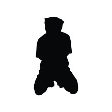 Hostage Silhouette Vector On W...