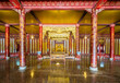 Throne room at Imperial Palace, Hue, Vietnam, Asia