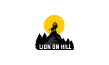 Big Lion On Hill, Smart Icons For Company