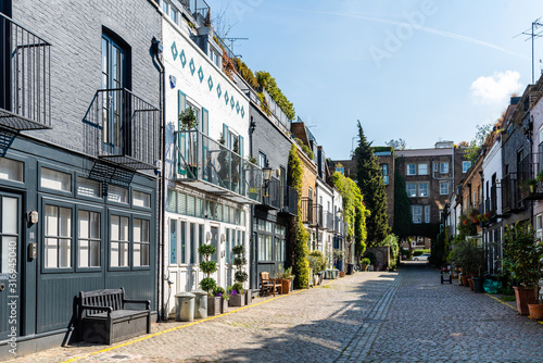 View of the picturesque St Lukes Mews alley near Portobello Road in Notting Hill Wallpaper Mural