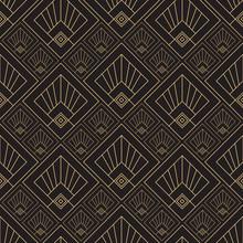 Gold Pattern. Linear Geometric...