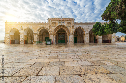 Al-Aqsa Mosque (al-Masjid al-Aqsat) in the Old City of Jerusalem Fototapete