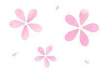 桜 花びら アブストラクト 春 白背景