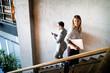 Leinwandbild Motiv Busy coworker business people working in the office