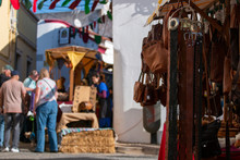 People Shopping In Medieval Festival