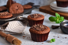 Chocolate Muffins With Chocola...