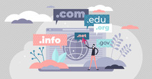 Domain Name Concept Flat Tiny ...